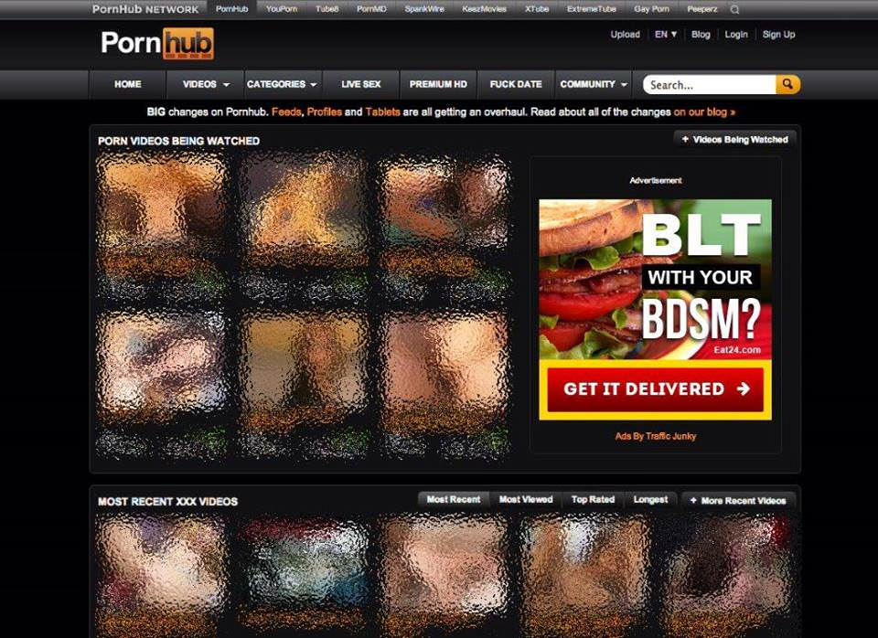 porn sites ad campaign eat24