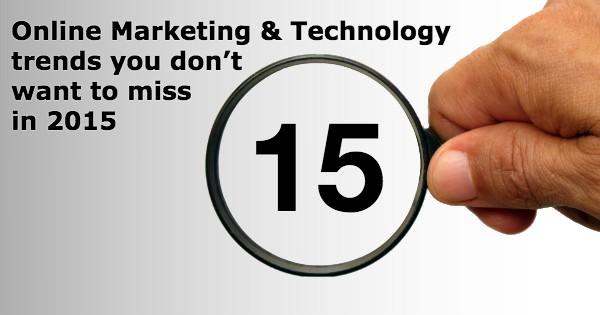 15 online marketing technology trends