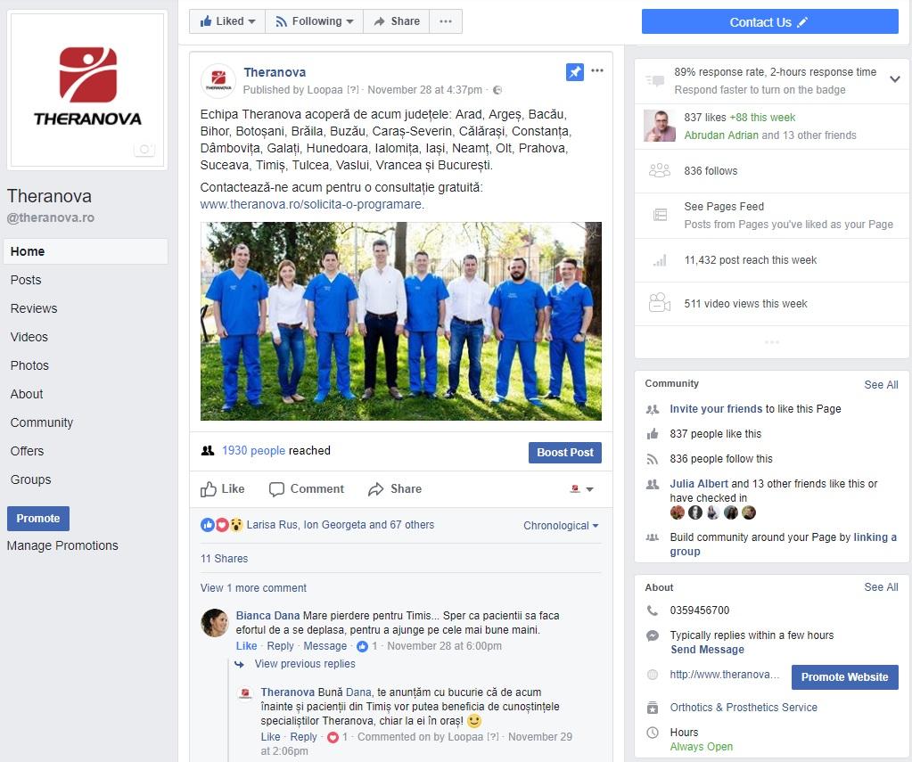 Theranova Facebook