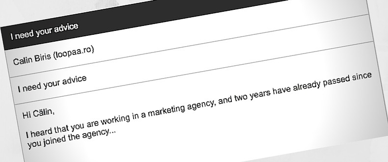 email from a marketing manager