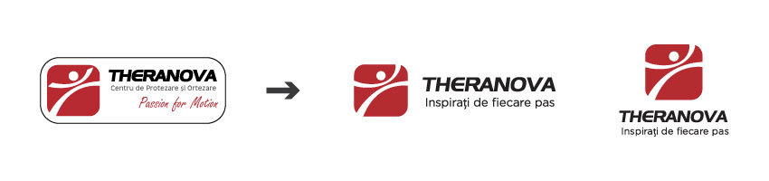Theranova old logo vs new logo